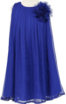 Flower Girl Dress Chiffon Pleaded with Flower Royal CA CJ104 - $29.69+