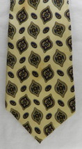 Tommy Hilfiger Neck Tie Yellow Red Paisley 2 Tone Silk Casual Dress Men's - $24.22