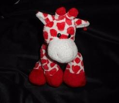 TY 2007 PLUFFIES BABY KISSER GIRAFFE WHITE RED HEARTS WHITE STUFFED ANIM... - $17.77