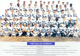 1968 DALLAS COWBOYS 8X10 TEAM PHOTO FOOTBALL PICTURE NFL - $3.95