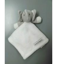 Blankets & Beyond White Gray Elephant Security Blanket Lovey Soft Plush ... - $24.99