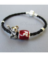 University Of Alabama Crimson Tide And Big Al Elephant European Charm Br... - $36.00