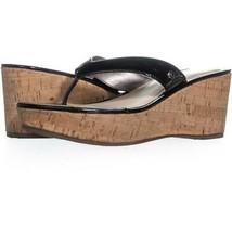 Circus by Sam Edelman Raquel Wedge Slip On Sandals 606, Black, 8 US / 38 EU - $24.95