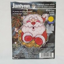 Santa Pere Noel Christmas Tree Ornament Cross Stitch Kit 140-164 JanLynn... - $14.99
