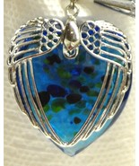 Wings Heart Pendant Turquoise - $3.50