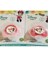 2x Minnie Lot 2 New Disney Mouse baby Pacifier (BPA Free) 0+ months Pink... - $10.78
