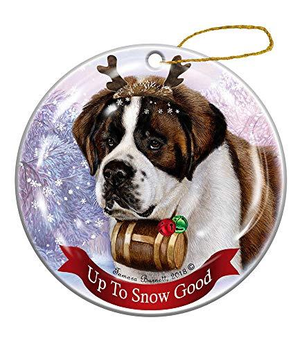 Primary image for Holiday Pet Gifts Reindeer Dog Porcelain Christmas Ornament