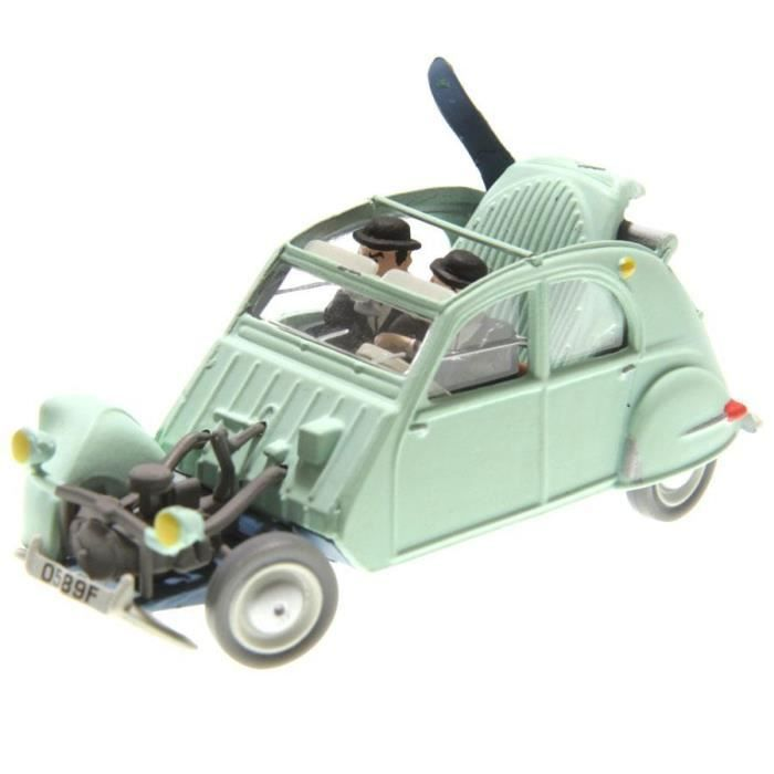 Crashed Citroen 2cv Castafiore The Emerald Voiture Tintin cars 1/43