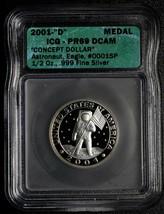 RARE Medal 2001D CONCEPT DOLLAR COIN DAN CARR Token Lot A 564