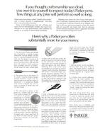 1977 Parker Pen Craftsmanship Illustration print ad - $10.00