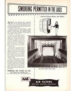 1947 American Air Filter AAF dust control equipment print ad - $10.00