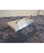 Executive Desk Double Pen Holder Metal 4 x 8  - $24.83