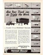 1947 Truck-Trailers builder Fruehauf Trailers print ad - $10.00