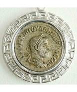 PHILIP I Tetradrachm Ancient Roman Silver Coin, Sterling Bezel Pendant S... - $314.10