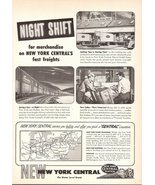 1947 New York Central Night Shift Fast Freights print ad - $10.00