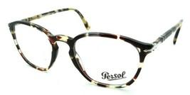 Persol RX Eyeglasses Frames 3178 V 1056 52-20-145 Brown Beige Tortoise Italy - $120.54