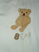 "2001 Gymboree Knit Sweater Blanket White Cream Teddy Bear Red Trim 35"" X... - $79.19"
