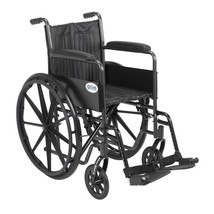 Drive Medical Silver Sport 2 With Fixed Arms and Footrests 18'' - $156.20