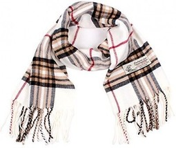 Plaid Cashmere Feel Classic Soft Luxurious Winter Scarf For Men Women (W... - $25.36