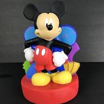 Disney Vintage Plastic Donald Duck Piggy Bank And 50