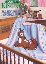 Animal Kingdom~Baby Deer Afghan Crochet Pattern - $12.99