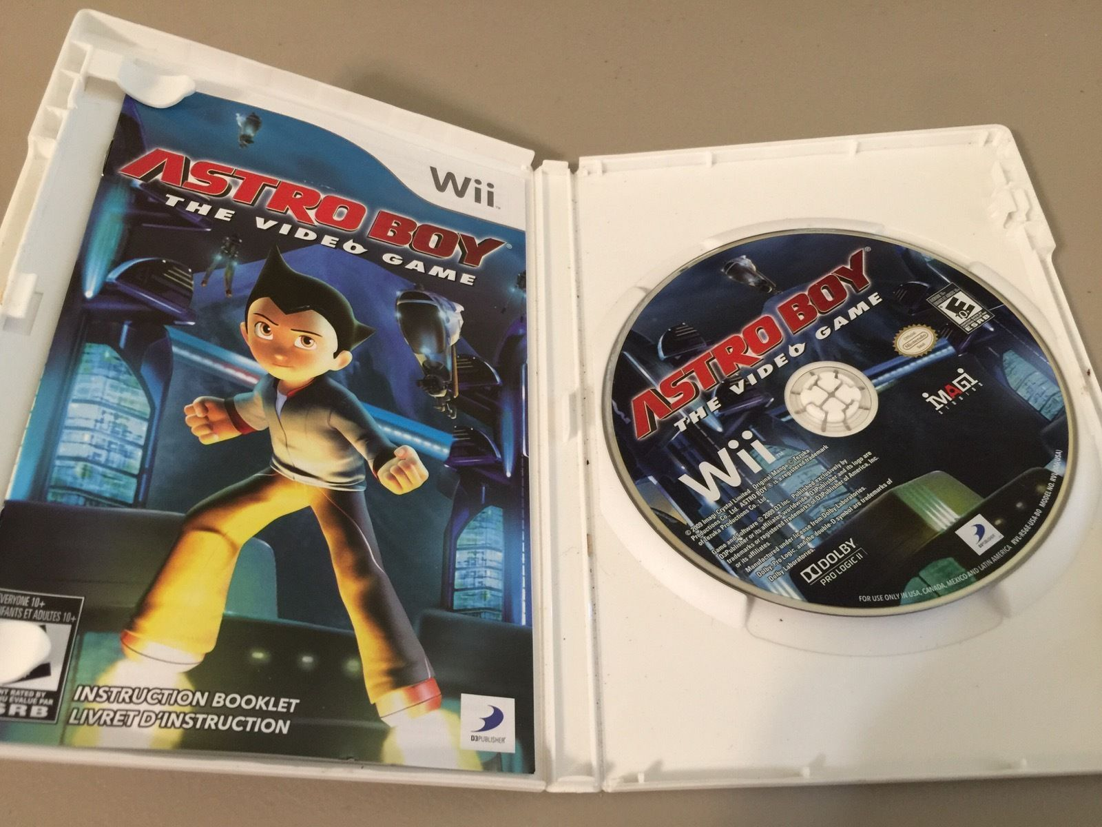Astro Boy: The Video Game (Nintendo Wii, 2009) COMPLETE TESTED AND WORKING