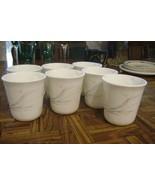 "Vintage Corning FLORAL WISP 3.5"" Tea/Coffee Mugs Cups Lot of 7 Disc Patt... - $45.68"