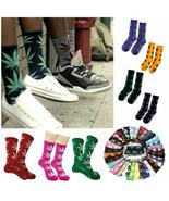 MARIJUANA LEAF SOCKS 44 Colors Medium Size Crew 420 Pot Weed Cotton Stre... - $6.95+