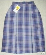 NWT SCHOOL APPAREL UNIFORM SKIRT-BLUE PLAID-SZ ... - $11.78