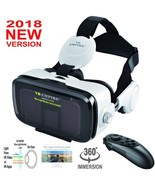 Apple iPhone X 8 8 Plus VR Headset 3D Glasses Virtual Reality With Headp... - $69.12