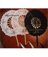 Three Round Battenburg Lace Fans - $25.00