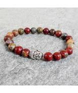 Picasso Jasper Stone Bracelets w/ Silver Buddha - $22.00