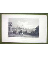 GERMANY Mannheim Manheim - 1840s Antique Print Engraving - $11.10