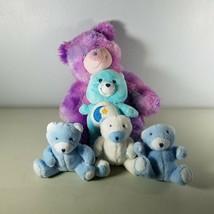 "Plush Bears Blue & White Soft Cuddly Size 5""  - $39.55"