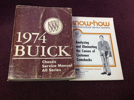 1974 Buick All Series Service Repair Shop Workshop Manual Set W Training Bk OEM - $14.84