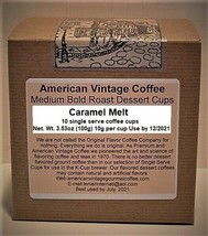 Caramel Melt flavored Dessert Coffee 10 Medium Bold Roasted K-Cups - $9.21