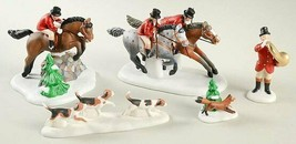 Department 56 Heritage Village TALLYHO #58391 Riders and horses w/ foxes... - $27.10