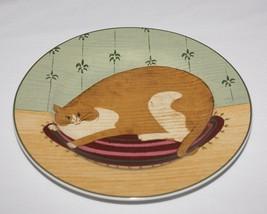 Cat Collection Plate Warren Kimble Sakura 2000 Smiling Orange White - $5.89