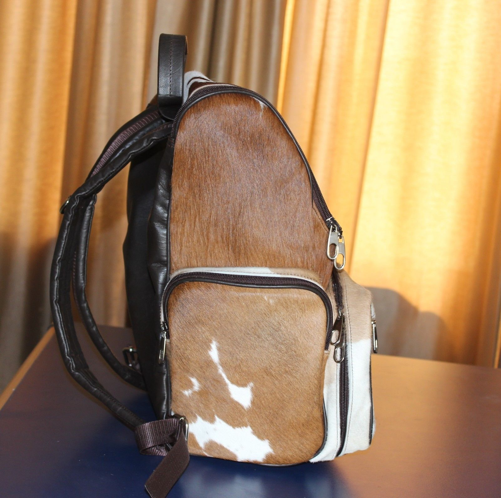 Cowhair Backpack natural leather ladies Genuine Cowhide Weekender Shoulder Bags image 2