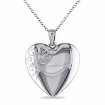 Sterling Silver Heart Locket Women's Pendant Necklace, 18 - $71.99