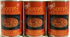 Amy's Organic Thai Curry Sweet Potato Lentil 14.5 oz ( Pack of 3 ) - $27.71