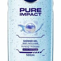 NIVEA MEN Hair, Face & Body Wash, Pure Impact Shower Gel, 250ml - $15.60