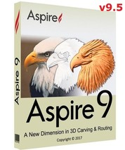 Vectric Aspire 9.5 with Cliparts (32-bit & 64-bit)   Software - FAST DEL... - $11.99