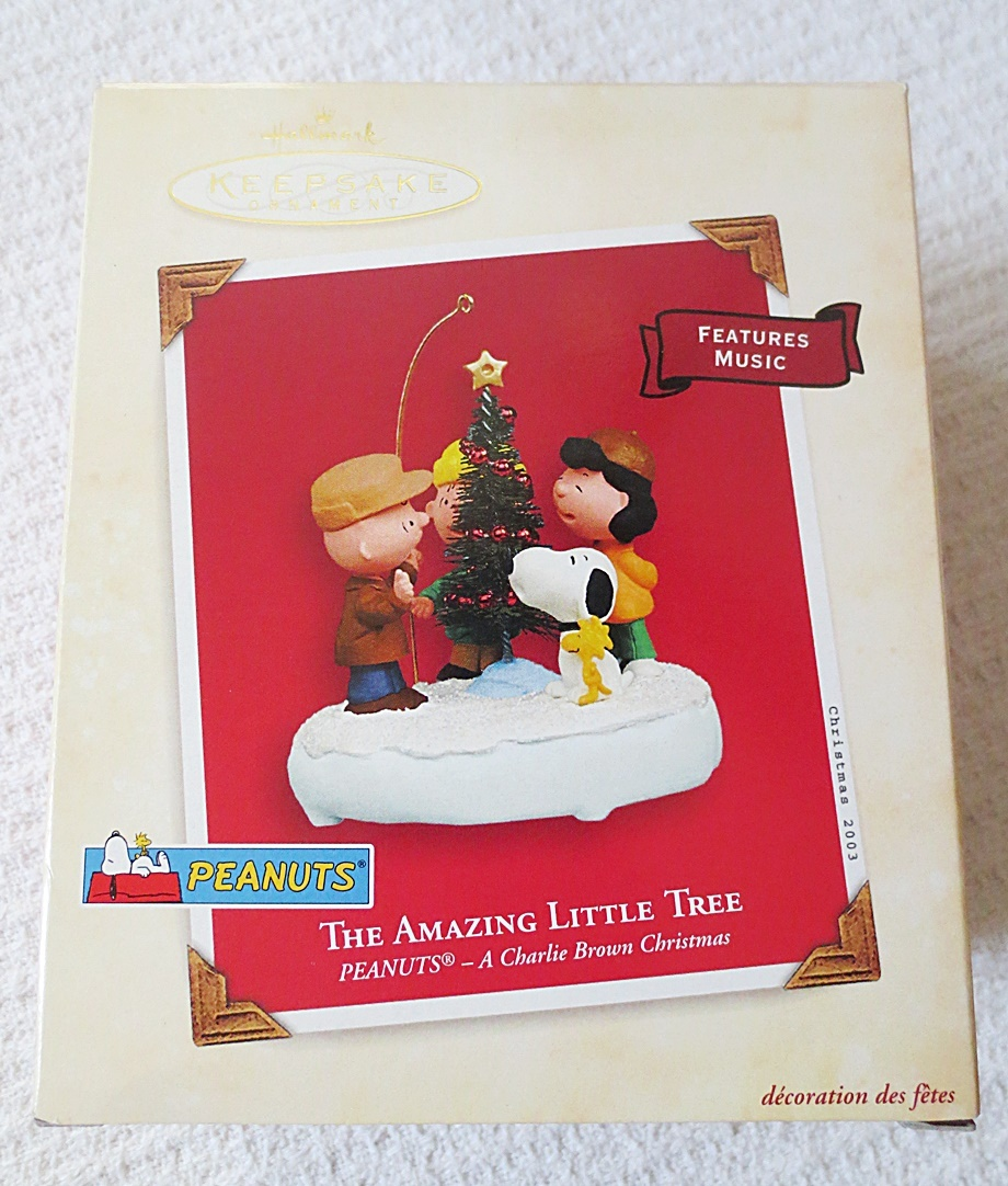 Primary image for Hallmark Peanuts A Charlie Brown Christmas The Amazing Little Tree 2003 Ornament
