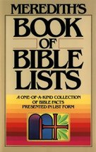 Meredith's Book of Bible Lists Meredith, J. L. - $3.71