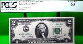 MONEY US $2 1976 FEDERAL RESERVE STAR NOTE DALLAS FR 1935 K* CH UNC VALU... - $56.70