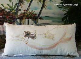 Pottery Barn Kids Painted Mermaid Lumbar Pillow -NWT- An Oc EAN Of Mythical Décor - $79.95