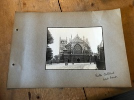 ANTIQUE/VINTAGE PHOTO OF WEST FRONT AT EXETER CATHEDRAL (ENGLAND) A4-SIZED - $6.36