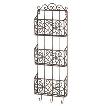 Wall Storage Rack, Wall Mounted Rack Organizer For Mail Magazine File - $43.57