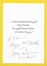 HARRY CARSON AUTOGRAPHED BIRTHDAY CARD NEW YORK GIANTS - £4.27 GBP
